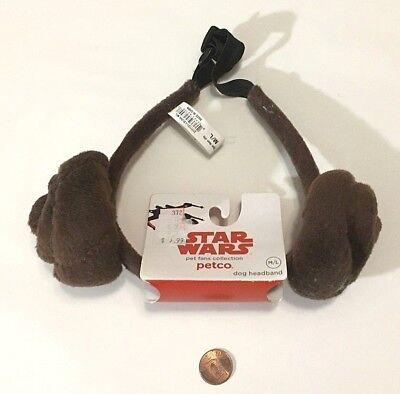 Petco Halloween Dog Star Wars Princess Leia Buns Medium Large Headband toy M L