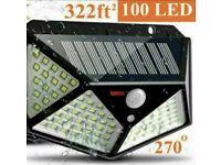 100LED Solar Power PIR Motion Sensor Wall Lights Outdoor Garden Security Lamp