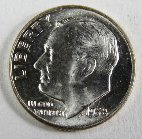 1958-D Silver Roosevelt Dime Choice/Gem Uncirculated