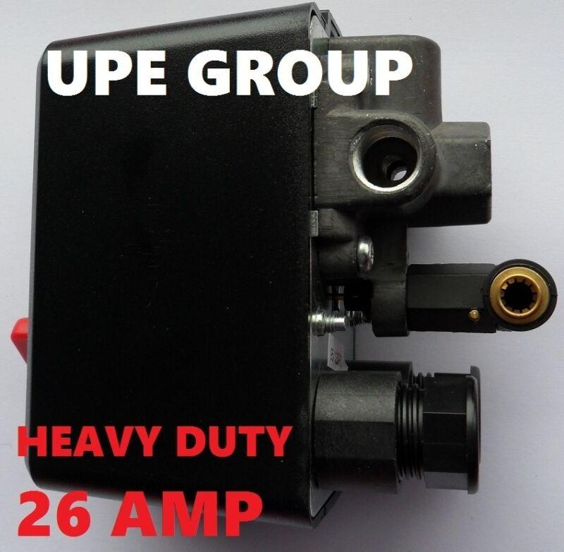 26 AMP PRESSURE SWITCH CONTROL AIR COMPRESSOR 95-125   4 PORT HEAVY DUTY COND
