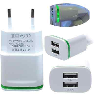 5V 2.1A Dual USB Port Wall Adapter Charger for Android Smartphone Tablet EU Plug