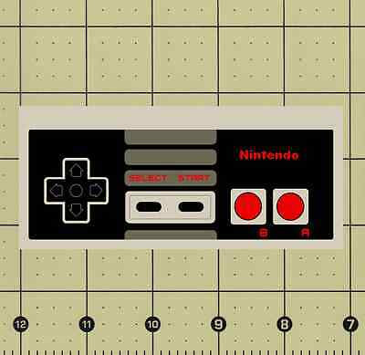 """CUSTOM MADE COLLECTIBLE NES NINTENDO CONTROLLER MAGNET (4⅞""""x2⅛"""") game pad"""