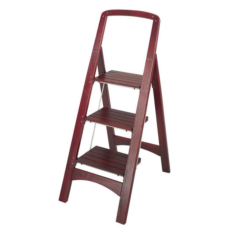 Household Step Ladder Adult Stool Stepping 4 Foot Folding Library Kitchen  NEW