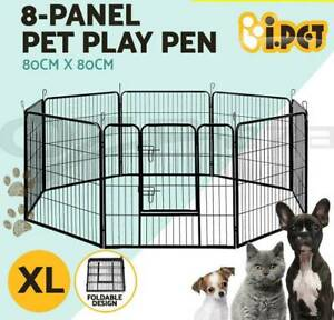 8 Panel Pet Dog Playpen Puppy Exercise Cage Enclosure Fence Play XL