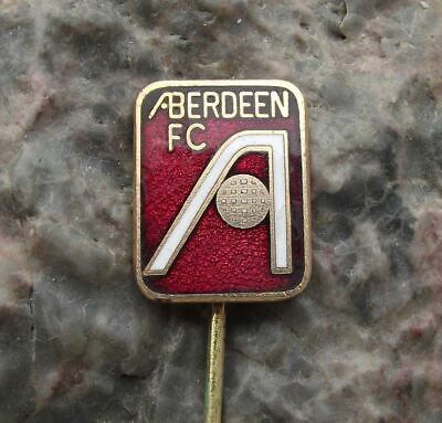 Antique Aberdeen Football Club AFC Supporter Soccer Crest Logo Motif Pin Badge, used for sale  Shipping to Canada