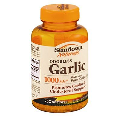 Sundown Naturals Odorless Garlic 1000 Mg Softgels 250 Ea
