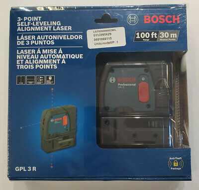 Bosch GPL 3 R 100ft 3-point Self-leveling Alignment Laser