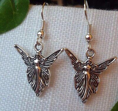schöne  Elfen Ohrringe Elfe Engel Fee Märchen Fairy Irland Silber Geschenk