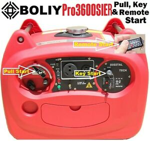 Boliy pro3600sier digital inverter generator remote start for Yamaha inverter generator vs honda