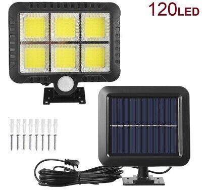 Luz Solar con sensor de movimiento Lámpara 120 LED COB Exterior Foco...