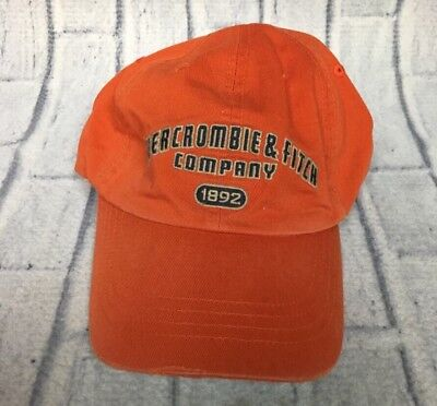 90s VTG ABERCROMBIE & FITCH LEATHER STRAPBACK Hat Dad Cap Distressed Broken In