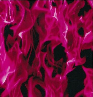 Hydrographic Water Transfer Hydrodipping Film Hydro Dip Hot Pink Flames 1m