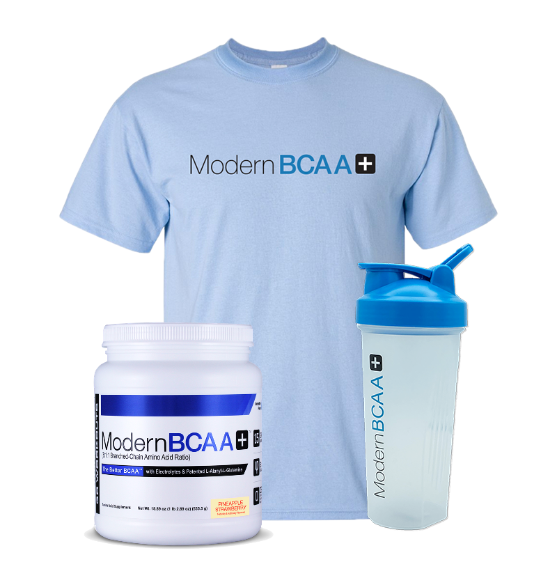 **LIMITED EDITION** Modern BCAA+ VIP Combo Pack with T-Shirt and Shaker!