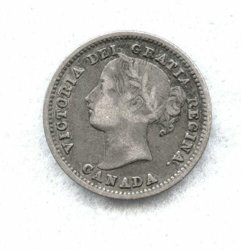 CANADA  ~ 1871 ~ TEN CENT ~ SILVER ~ VF