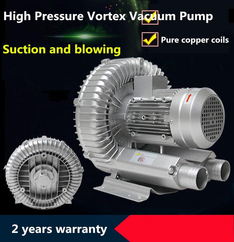 550w Industrial High Pressure Vortex Vacuum Pump Dry Air