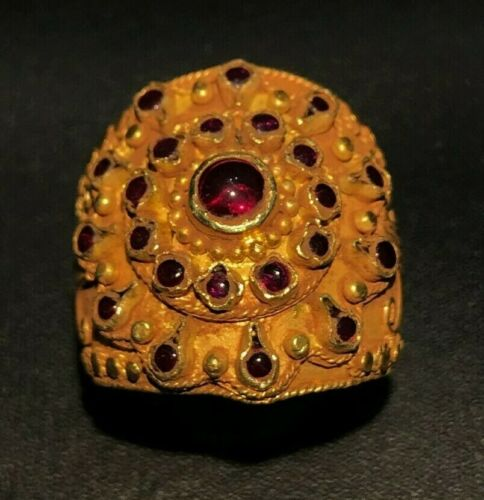 antiques Ruby Gold Ring - 100 to 500 AD