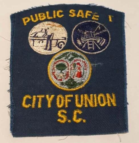 Union City South Carolina SC US Police Patch Vintage