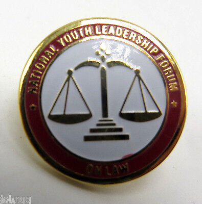 National Youth Leadership Forum - On Law - Lapel Pin - NEW in Package
