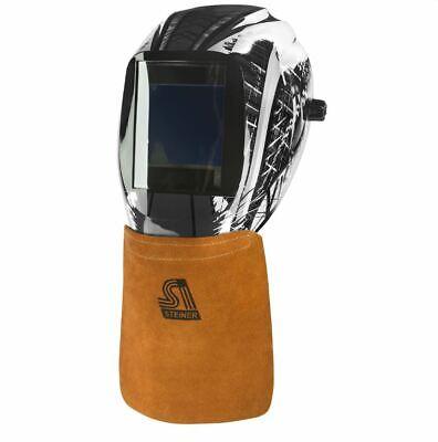 Steiner Leather Welding Helmet Bib 12109 Hook & Loop Hood Neck Protector Leather Helmet Bib