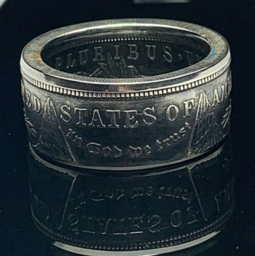 *AUTHENTIC* MORGAN Silver Dollar U.S. Hand Made Coin Ring (Sizes 6-15) Gift