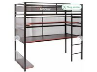 X Rocker Battle Bunk Gaming Bed with XL Gaming Desk