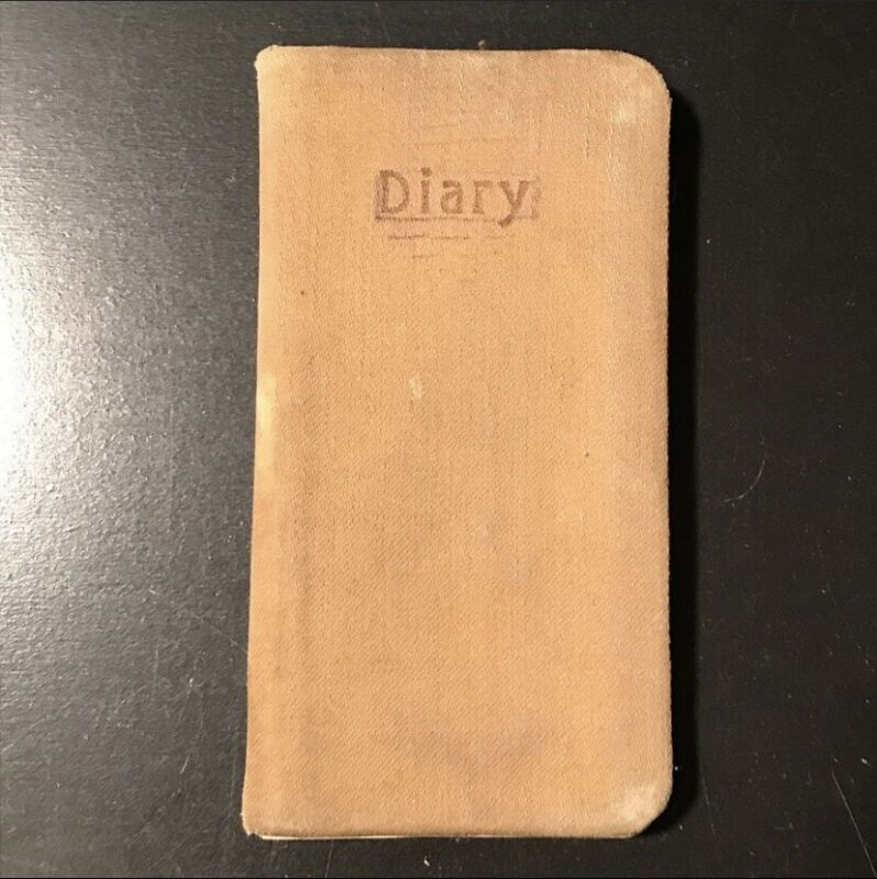 WWI 1918-1919 Pocket Diary L.E. Baker