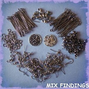 BLACK-JEWELLERY-KIT-EYEPINS-HEADPINS-CLASPS-EARWIRES-CRIMP-BEADS-JUMPRINGS-ETC