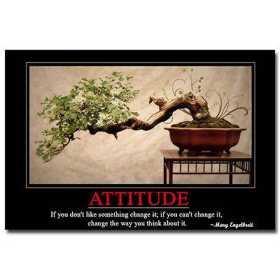 Attitude Motivational Quotes Art Silk Poster 13X20 24X36  Modern Office Decor