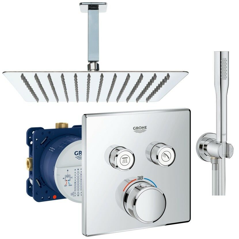 Grohe Grohtherm SmartControl Thermostat Unterputz Duscharmatur Set UP Armatur