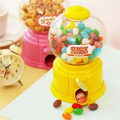 Plastic Mini Candy Machine Bubble Gumball Dispenser Small Candy Snacks Kids Toy - Small Plastic Gumball Machine