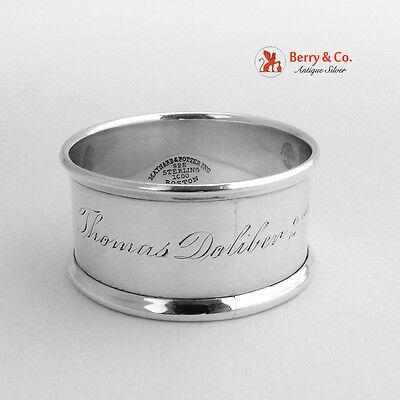 Napkin Ring Thomas Doliber 2nd Maynard and Potter Sterling Silver 1900