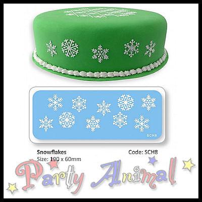 JEM Sugarcraft Stencil - SNOWFLAKE - Xmas card/cake decoration/Caft Equipment