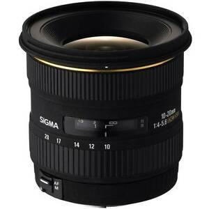 NEW Sigma 10-20mm f/4-5.6 EX DC HSM Lens for Canon EF Mount (Imp Burra Queanbeyan Area Preview