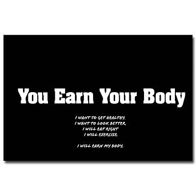 Bodybuilding Fitness Motivational Quotes Art Silk Poster 13X20  24X36  095