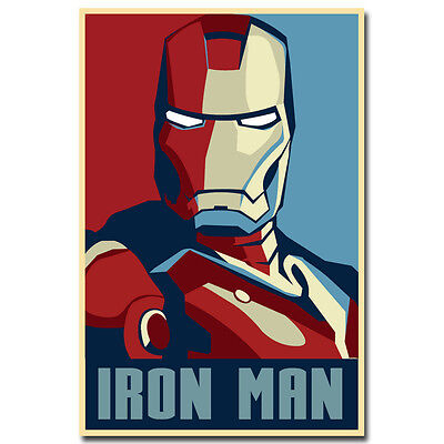 Iron Man Superheroes Comic Movie Silk Poster 24x36 inches Ho