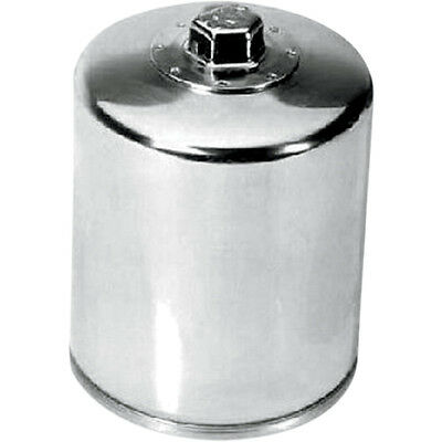 2007 Off Road Models - K&N KN-171C Chrome Wrench Off Performance Oil Filter for Harley Twin Cam Models