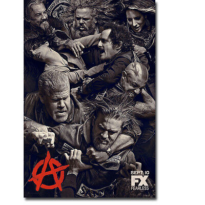Sons Of Anarchy Tv Series Art Silk Poster Print 12X18 24X36 Inch Teller 001