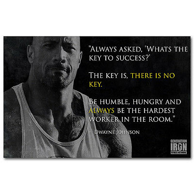 Dwayne Johnson   The Rock Fast Furious Muscle Strong Usa Star 13X20 24X36inch