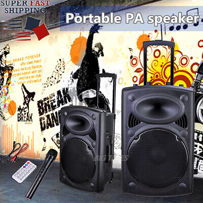 Best Sound System 2020 Portable Active PA Speaker with Mic and Remote Bluetooth