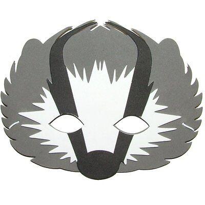 Foam Cute BADGER Mask (NEW DESIGN) - Fancy Dress For Children & Grown Ups
