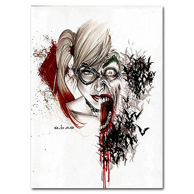 Harley Quinn and Joker - Suicide Squad Superheroes Art Silk Poster 13x18inch