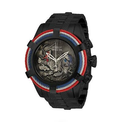 Invicta Bolt Zeus 28204 Mens Black Multi Colored Cable Bezel Fish Theme Watch