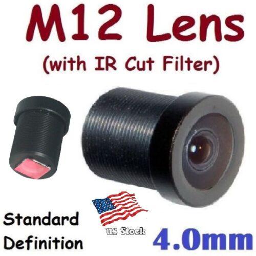 Sunvision CCTV 4.0mm Monofocal 78⁰ AOV M12 Board Lens + IR Cut Filter for FPV