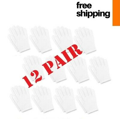 Hand Care Cotton Gloves Soft White Cosmetic Sleeping Dry Cracked Hands Protector