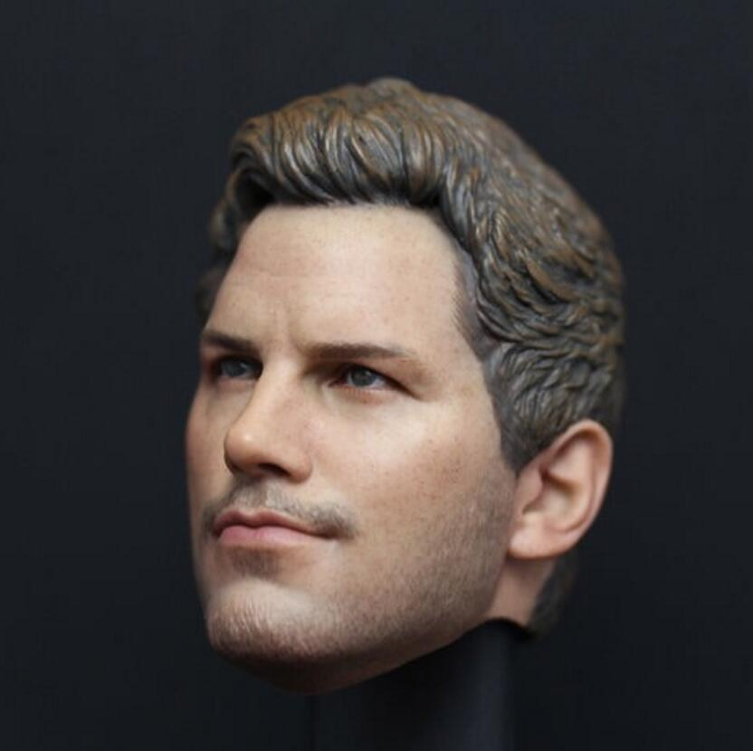 1//6 Star-Lord Chris Pratt Head Sculpt Guardians of The Galaxy For HotToys PHICEN