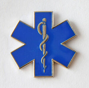 STAR-OF-LIFE-PIN-BADGE-NURSING-AMBULANCE-PARAMEDIC