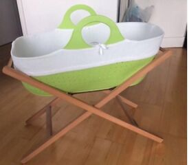 Offers welcome. Moses basket and stand in excellent condition