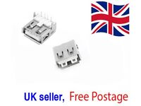 USB Female Type A Port 4-Pin DIP 90 Degree Jack Socket Connector FREE UK POSTAGE