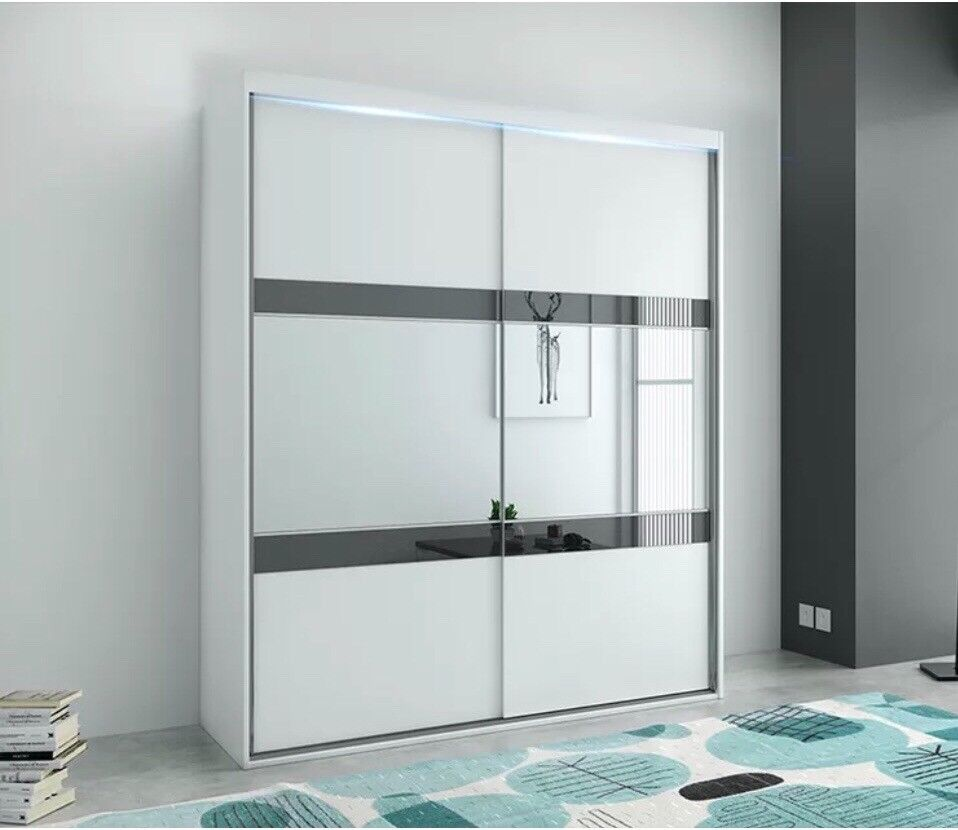 Double Sliding Door Wardrobe