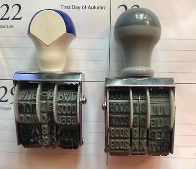Lot- 2 Vintage Date Stampers - Used
